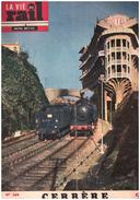 La Vie Du Rail   348 12 Mai 1952 CERBERE  Hotel  La Sortie Du Train Au Nord De Cerbere - Trains