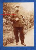 Photo Ancienne - Portrait D´un Officier Poilu Du 161e Régiment Avec Belle Pipe - WW1 - Guerre, Militaire