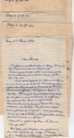 VP5494 - MILITARIA - Guerre 39 / 45 - 4 Lettres Aspirant R.FOL 1ère Cie D.G.G. 11 à POISSY - Génie Miilaire - Dokumente