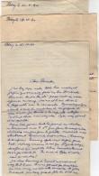 VP5495 - MILITARIA - Guerre 39 / 45 - 3 Lettres Aspirant R.FOL 1ère Cie D.G.G. 11 à POISSY - Génie Miilaire - Dokumente