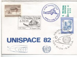 AUSTRIA MAT WIEN UNISPACE 1982 ESPACIO COLUMBIA - Cartas