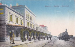 Zemun Semlin  Bahnhof , Dampflokomotive, Zug - Trains