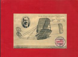 CPA BERLIN ORVILLE WRIGHT MIT SEINER FLUGMASCHINE 1909 AVIATION - Aviateurs