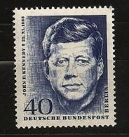 Allemagne Berlin 1964 N° 218 ** USA, Etats-Unis D'Amérique, JFK, John Fitzgerald Kennedy, Président, Monroe, Assassinat - [5] Berlin