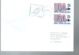 USA   Lettre Avions Jo 1980  Bobsleigh - Sellos