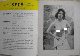 A1796  RIVISTA MENSILE SETTIMANALE CATALOGUE DEPLIAN LES PRODUCTIONS ITALIX  1957-1958 - Men's