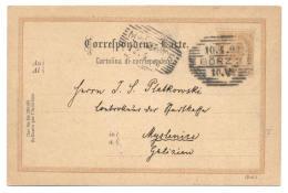 Ganzsache Österreich, Görz 1898 Nach Myslenice, Galizien, Polen - Ganzsachen