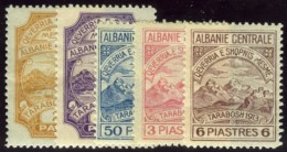 Central Albania. Essad Pasha, 1915.  Five Mint Stamps, SG #55, 56, 64-66. Very Fine. - Albania