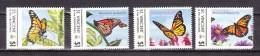 St Vincent & Grenadines, 4V,set,butterflies,vlinders,schmetterlinge,Read/Lees,World Of Wildlife Issue,MNH/Postfris(A2716 - Papillons