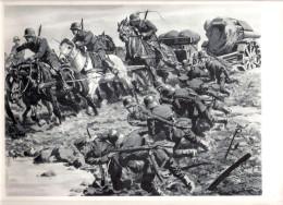 WW I 21 Cm MÖRSER Auf Dem östlichen Krieg Sschauplatz Um 1916 Zugleich Artillerie Pferde 8 - Spännig Schlamm Signiert Os - Weltkrieg 1914-18