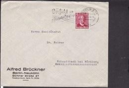 """Werbestempel Berlin """" Vorsicht An Eisenbahnübergängen """" 1936 - Deutschland"""