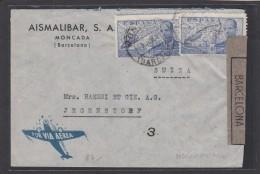 LETTRE CENSUREE DE BARCELONE POUR JEGENSTORF(SUISSE),1942. - 1931-50 Briefe U. Dokumente