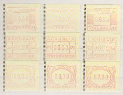 ÖSTERREICH  ATM 1,2b S1, 2.2d S1, 3.2 S1, Postfrisch **, Automatenmarken 1983-1995 - 1945-.... 2nd Republic