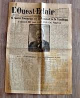 Journal OUEST-ECLAIR - 1924 - Gaston Doumergue élut Président (CL 912) - Historische Documenten