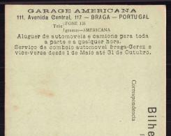 Publicidade GARAGE AMERICANA BRAGA. Postal Antigo GERÊS Veado Da Serra GEREZ / TERRAS DO BOURO / Portugal - Braga