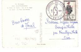 @ CP Avec Timbre Er Oblitération - Journée Du Timbre 1961 Saint Brieuc - FDC