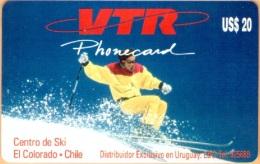 Chile - CHL-VTR-0024, Centro De Ski El Colorado, 20US$, 1000ex, 1996, Used - Chile