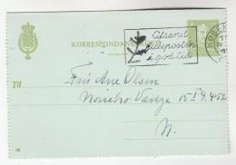 1940s DENMARK  POSTAL STATIONERY LETTERCARD SLOGAN Pmk CHRISTMAS  Cover Religion Stamps - Postal Stationery