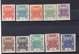 TANNU TUVA YR 1926,SC 1-10,MLH *,WHEELS OF TRUTH - Tuva