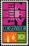1974 USA Energy Conservation Stamp Sc#1547 Molecule Oil Solar - Astronomy