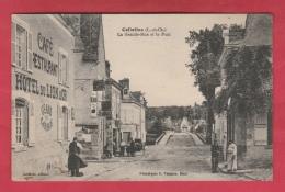 41 - Cellettes - La Grande-Rue Et Le Pont - Hôtel Du Lion D'Or  - 1930  ( Voir Verso ) - Autres Communes
