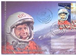 2016. Moldova, Space, 55y Of Space Flight Of German Titov,Soviet Spaceman, Cover With Postmark, Mint/** - Moldawien (Moldau)