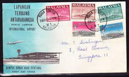 Malaysia 1965 Kuala Lumpur Airport First Day Cover - Addressed - Maldives (1965-...)