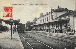 St Saint-Rambert D'Albon (Drôme) - La Gare Avec Train En Gare - Carte L.C. N° 2 - France
