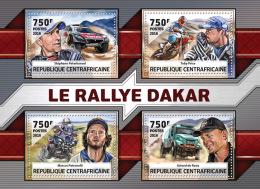 CENTRALAFRICA 2016 ** Dakar Rallye Peterhansel Price Patronelli De Rooy M/S - OFFICIAL ISSUE - A1636 - Cars