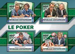 CENTRALAFRICA 2016 ** Poker Card Games Kartenspiel Jeu De Cartes M/S - OFFICIAL ISSUE - A1636 - Autres