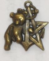 TDM, Escadron, RICM, Coloniale, Ours, Pin's, Métal Bronze - Hueste