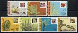 NICARAGUA - 1987 - Flower Cacti Plants Cactus    + 7 Stamps CTO Used Full Stamp Set  (lot -  20 - 334) - Sukkulenten