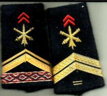 Epaulettes Fourreau Artillerie Infanterie - Ecussons Tissu