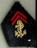Ecusson De Col Infanterie Marine - Ecussons Tissu