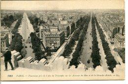 75016 PARIS - Lot De 2 CPA - Vues Prises De L'arc De Triomphe - Avenues Du Bois Et De La Grande-Armée - Distrito: 16