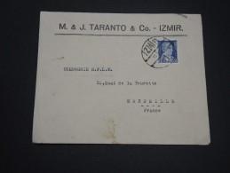TURQUIE -  Enveloppe Commerciale De Izmir Pour La France En 1936 - A Voir - L 2250 - 1921-... Republic