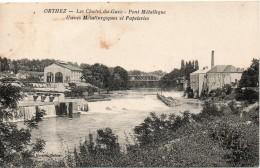 Les Chutes Du Gave Le Pont Metallique Usines Metallurgiques Et Papeteries - Orthez