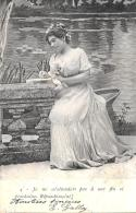 [DC3210] CPA - JE NE M'ATTENDAIS PAS A UNE FIN SI PROCHAINE. REPONDONS-LUI! - Viaggiata 1903 - Old Postcard - Femmes
