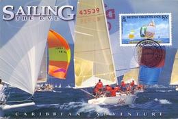 SAILING  THE B.V.I   MAX   POST CARD   (SET160137) - Vela