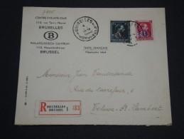 BELGIQUE - Enveloppe En Recommandée De Bruxelles En 1946 - A Voir - L 2264 - Belgium