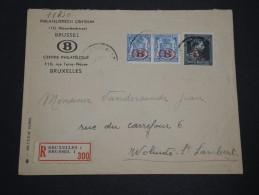 BELGIQUE - Enveloppe En Recommandée De Bruxelles En 1946 - A Voir - L 2265 - Belgium