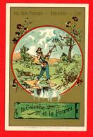 Chromo Sans Publicité Lith. Vieillemard, Fables La Fontaine, La Colombe Et La Fourmi - Louit