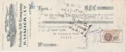 Lettre Change Illustrée 13/4/1933 P VIALLON Perfecty Oil Company LYON Rhône Pour Garage Klaxon Paris - Lettres De Change