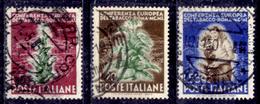 """Italia-F01604 - 1950: """"Tabacco"""", Sassone N. 629/631 (o) Used  - Privo Di Difetti Occulti. - 6. 1946-.. Repubblica"""