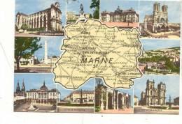 AR 39 Marne, Multi Vues Carte Departement  1639 Cap . - France
