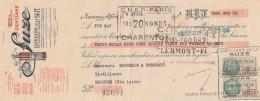 Lettre Change Illustrée 9/4/1934 Distillerie De La SUZE Apéritif Gentiane MAISONS ALFORT Seine Pour Brioude - Lettres De Change