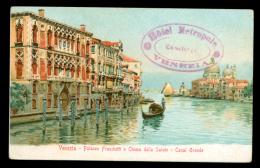 VENEZIA. Palazzo Franchetti Chiesa Della Salute. Pubblicità Hotel Metropole. - Venezia (Venice)