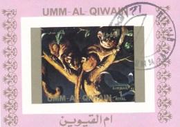 Philatélie - B2159-2238 - Umm Al Qiwann - Vignette  Air Mail 70x50mm 1 Riyal - Série Animaux - Stamps