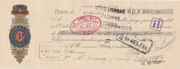 Lettre Change 23/3/1909 SUZOR & PINTA Fil Du Patriote PARIS Pour Cernay Vienne - Lettres De Change