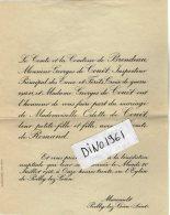 VP5498 - Faire Part De Mariage De Melle Odette De COUET & Le Comte De ROMAND - POILLY LEZ GIEN ( Loiret ) - Wedding